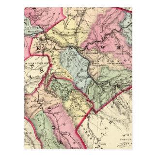Carte de Putnam, Kanawha, comtés de Boone
