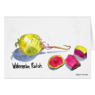 Carte de radis de pastèque