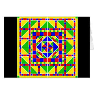 Carte de Rangoli 2 Diwali de couleurs primaires