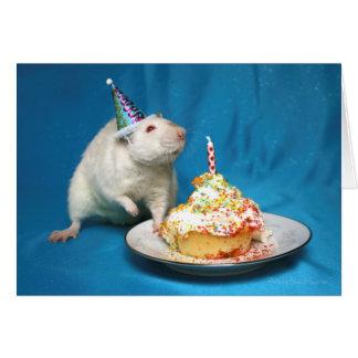 Carte de rat de joyeux anniversaire