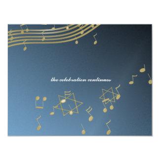 Carte de réception de la barre Mitzvah/de musique Carton D'invitation 10,79 Cm X 13,97 Cm