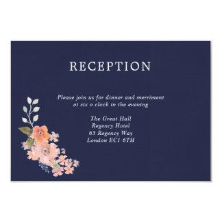 Carte de réception de mariage d'aquarelle de