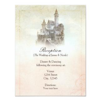 Carte de réception de mariage de livre de contes carton d'invitation 10,79 cm x 13,97 cm