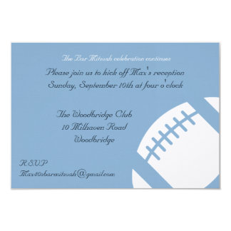 Carte de réception de Mitzvah de barre - le