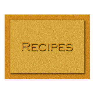 Carte de recette
