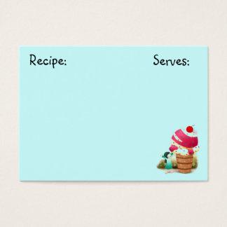 Carte de recette de bonbons