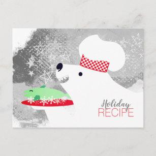 Carte de recette de cuisson de cuisine de chef