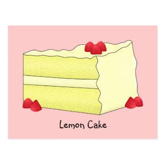 Carte de recette de gâteau de citron