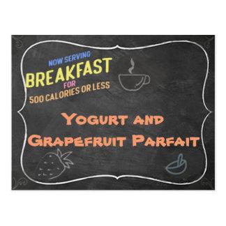 Carte de recette de parfait à yaourt et à