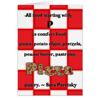 Carte de recette de pizza