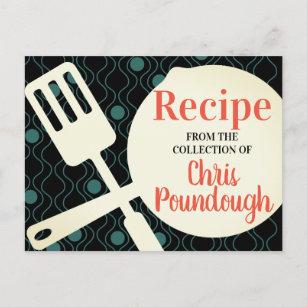 Carte de recette personnalisée de la cuisine spat