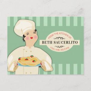 Carte de recettes de livres de recettes de spaghet