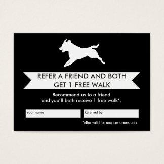 Cartes De Visite Carte de référence de marcheur de chien -