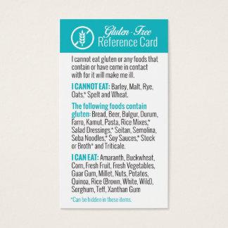 Carte de référence sans gluten