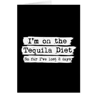 Carte de régime de tequila