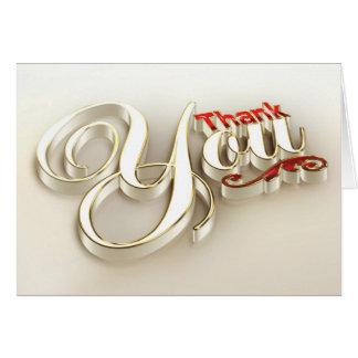 carte de remerciements 3D