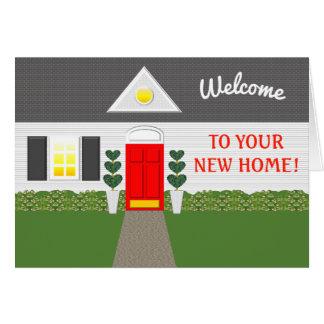 Carte de remerciements à la maison bienvenu