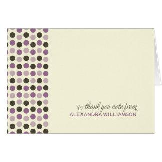 Carte de remerciements à la mode de pois (lilas)