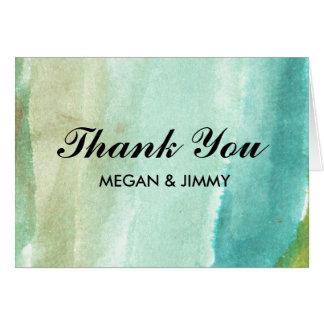 carte de remerciements abstrait vert d'aquarelle