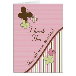 Carte de remerciements assorti de baby shower