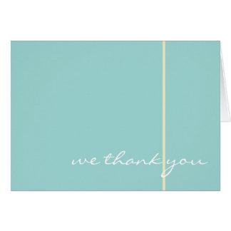 Carte de remerciements bleu de mariage