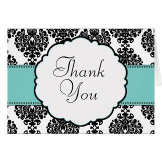 Carte de remerciements bleu de mariage des oeufs