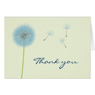 Carte de remerciements bleu de pissenlit