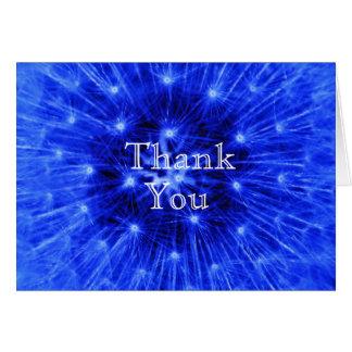 Carte de remerciements bleu de souffle de