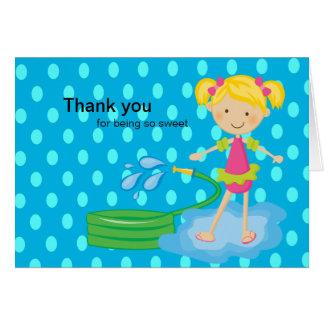 Carte de remerciements bleu de tuyau de réception