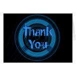 Carte de remerciements bleu et noir mignon