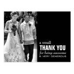 Carte de remerciements bon marché de mariage - pho carte postale