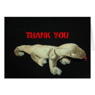 Carte de remerciements bourré de jouet