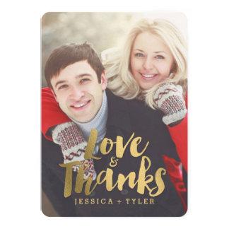 Carte de remerciements brillant de mariage de carton d'invitation  12,7 cm x 17,78 cm
