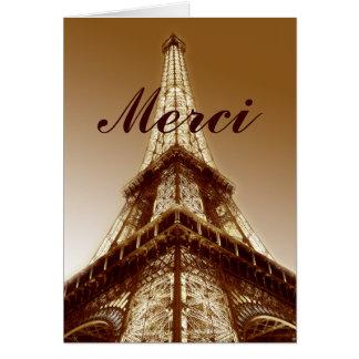 Carte de remerciements Brown de Paris de Tour