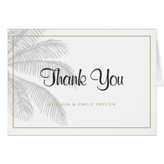 Carte de remerciements chic de mariage de palmier