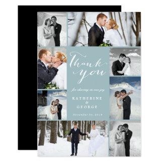 Carte de remerciements chic moderne de mariage de carton d'invitation  12,7 cm x 17,78 cm