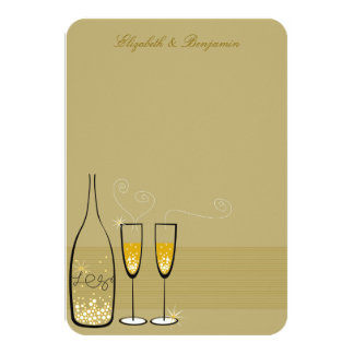 Carte de remerciements chic pétillant de mariage