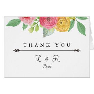 Carte de remerciements chic rustique
