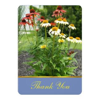 Carte de remerciements coloré de marguerites carton d'invitation  12,7 cm x 17,78 cm