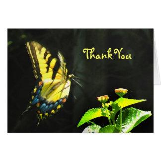 Carte de remerciements coloré de papillon
