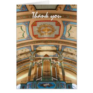 Carte de remerciements coloré d'organe