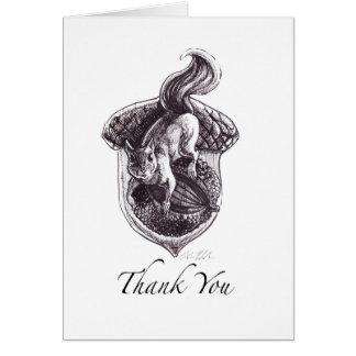 Carte de remerciements comportant l'aspiration à