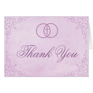 Carte de remerciements croisé encerclé