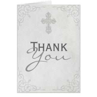 Carte de remerciements croisé sensible