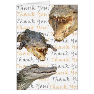 Carte de remerciements d'alligator