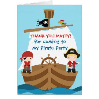 Carte de remerciements d'anniversaire de bateau de