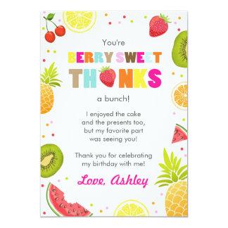 carte de remerciements d'anniversaire de fruit de carton d'invitation  12,7 cm x 17,78 cm