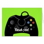 Carte de remerciements d'anniversaire de jeu vidéo