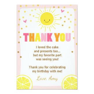 Carte de remerciements d'anniversaire de limonade