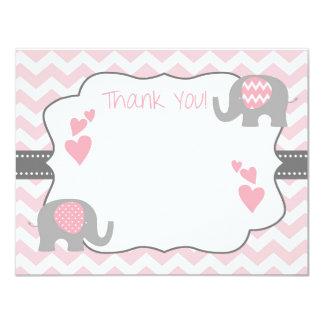 Carte de remerciements de baby shower, baby shower carton d'invitation 10,79 cm x 13,97 cm